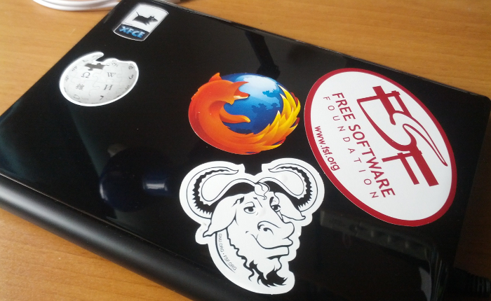 Photo of my freedom fighter laptop
